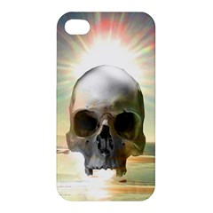 Skull Sunset Apple Iphone 4/4s Hardshell Case by icarusismartdesigns