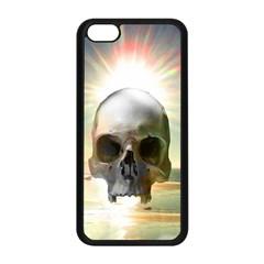 Skull Sunset Apple Iphone 5c Seamless Case (black) by icarusismartdesigns
