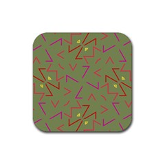 Angles Rubber Square Coaster (4 Pack) by LalyLauraFLM