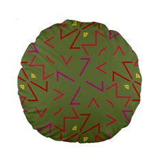 Angles Standard 15  Premium Round Cushion  by LalyLauraFLM