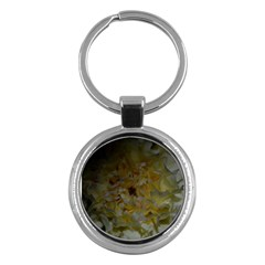 Yellow Flower Key Chains (round)  by timelessartoncanvas
