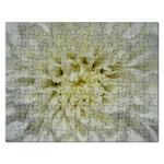White Flowers Rectangular Jigsaw Puzzl