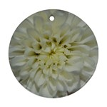 White Flowers Round Ornament (Two Sides)