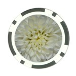 White Flowers Poker Chip Card Guards