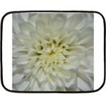 White Flowers Double Sided Fleece Blanket (Mini)