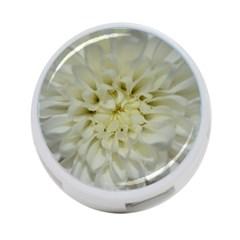 White Flowers 4 Port Usb Hub (two Sides)  by timelessartoncanvas