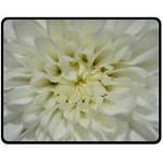 White Flowers Fleece Blanket (Medium)