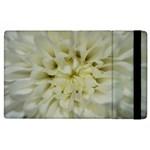 White Flowers Apple iPad 3/4 Flip Case