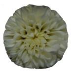 White Flowers Large 18  Premium Round Cushions