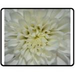 White Flowers Double Sided Fleece Blanket (Medium)
