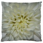 White Flowers Standard Flano Cushion Cases (One Side)