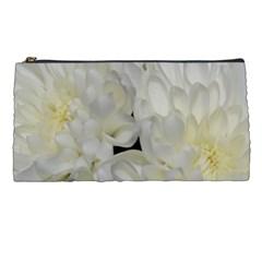White Flowers 2 Pencil Cases by timelessartoncanvas