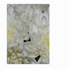 White Flowers 2 Large Garden Flag (two Sides) by timelessartoncanvas