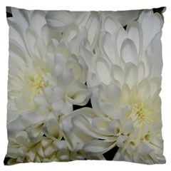 White Flowers 2 Standard Flano Cushion Cases (two Sides)  by timelessartoncanvas