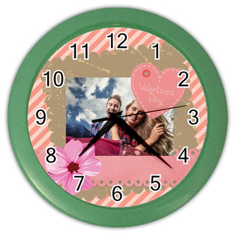 Love By Ki Ki   Color Wall Clock   Gcbfr8z51jga   Www Artscow Com Front