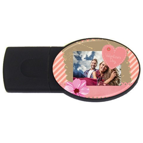 Love By Ki Ki   Usb Flash Drive Oval (4 Gb)   O2zkjmuqbjck   Www Artscow Com Front