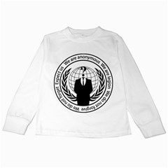 Anonymous Seal  Kids Long Sleeve T-Shirts by igorsin