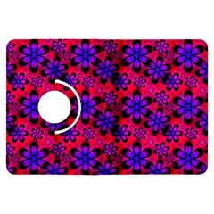 Neon Retro Flowers Pink Kindle Fire Hdx Flip 360 Case by MoreColorsinLife