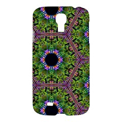 Repeated Geometric Circle Kaleidoscope Samsung Galaxy S4 I9500/i9505 Hardshell Case by canvasngiftshop