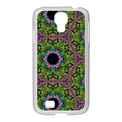 Repeated Geometric Circle Kaleidoscope Samsung Galaxy S4 I9500/ I9505 Case (white) by canvasngiftshop