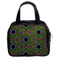 Repeated Geometric Circle Kaleidoscope Classic Handbags (2 Sides) by canvasngiftshop