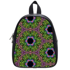 Repeated Geometric Circle Kaleidoscope School Bags (small)  by canvasngiftshop