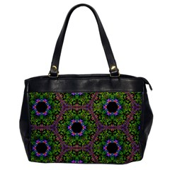 Repeated Geometric Circle Kaleidoscope Office Handbags by canvasngiftshop