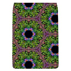 Repeated Geometric Circle Kaleidoscope Flap Covers (s)  by canvasngiftshop
