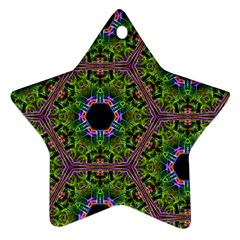 Repeated Geometric Circle Kaleidoscope Ornament (star)  by canvasngiftshop