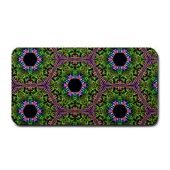 Repeated Geometric Circle Kaleidoscope Medium Bar Mats by canvasngiftshop