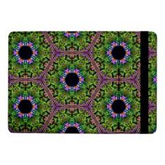 Repeated Geometric Circle Kaleidoscope Samsung Galaxy Tab Pro 10 1  Flip Case by canvasngiftshop