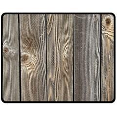 Wood Fence Fleece Blanket (medium)  by trendistuff
