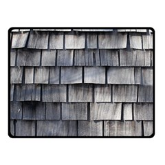 WEATHERED SHINGLE Fleece Blanket (Small) by trendistuff