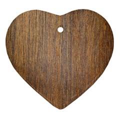 Walnut Ornament (heart)  by trendistuff