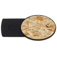 Osb Plywood Usb Flash Drive Oval (2 Gb)  by trendistuff