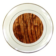 Old Brown Weathered Wood Porcelain Plates by trendistuff