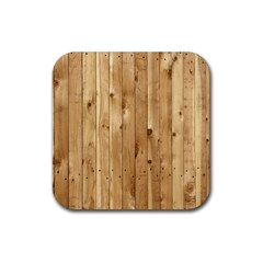 Light Wood Fence Rubber Coaster (square)  by trendistuff