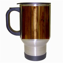 Light Wood Fence Travel Mug (silver Gray) by trendistuff