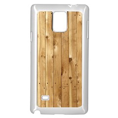 Light Wood Fence Samsung Galaxy Note 4 Case (white) by trendistuff
