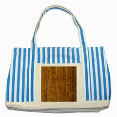 KNOTTY WOOD Striped Blue Tote Bag  by trendistuff