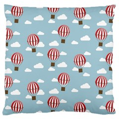 Hot Air Balloon Large Cushion Cases (two Sides)  by Kathrinlegg