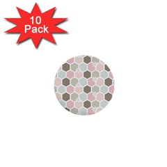 Spring Bee 1  Mini Buttons (10 Pack)  by Kathrinlegg