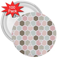 Spring Bee 3  Buttons (100 Pack)  by Kathrinlegg