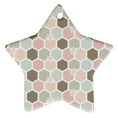 Spring Bee Star Ornament (two Sides)  by Kathrinlegg