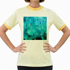Splashes Of Color, Aqua Women s Fitted Ringer T Shirts by MoreColorsinLife