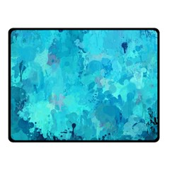 Splashes Of Color, Aqua Fleece Blanket (small) by MoreColorsinLife