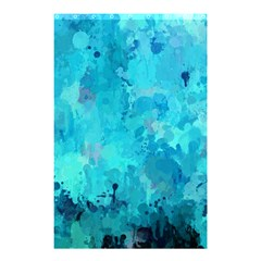 Splashes Of Color, Aqua Shower Curtain 48  x 72  (Small)  by MoreColorsinLife