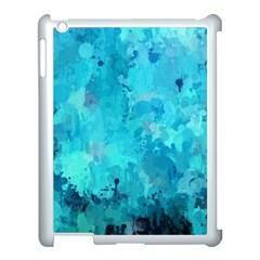 Splashes Of Color, Aqua Apple Ipad 3/4 Case (white) by MoreColorsinLife