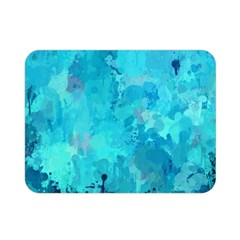 Splashes Of Color, Aqua Double Sided Flano Blanket (mini)  by MoreColorsinLife