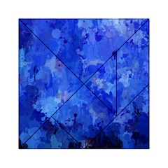 Splashes Of Color, Blue Acrylic Tangram Puzzle (6  x 6 ) by MoreColorsinLife